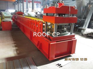 European Metal Door Slot Profile Roll Forming Machine With Automatic Punching 3 - 5 m / min