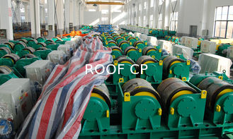 China Two Motor Double Drive Conventional Welding Rotator Loading 150T Capacity Rubber Wheels supplier