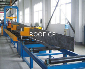 China Steel Plate Cutting , H beam Assemblying ,H Beam Gantry Welding , Flang Plate Straightening , H Beam Production Line supplier