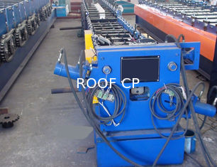 Round / Rectangular Downspout Roll Forming Machine With 20 Roller Stations Germany Rex Valve