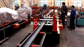 China Galvanized Steel C / Z Purlin Roll Forming Machine , C Purlin Production Line supplier