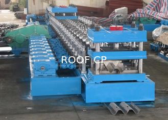 China 2 Waves Highway Guardrail Roll Forming Machine Fually Automatic Control By Panasonic PLC supplier