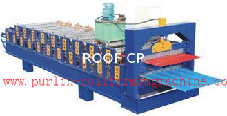 China PLC Control Automatic Steel Roof Panel Roll Forming Machine Double Layer High Efficiency supplier