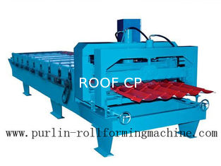 China 0.3mm - 0.8mm Roof / Wall Panel Glazed Tile Roll Forming Equipment for Architecture Roofing supplier
