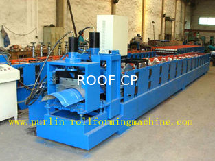 ISO / CE Approved Metal Ridge Cap Tile Roll Forming Machine Production Line High Speed