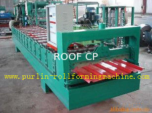 China High Speed Glazed Tile Cold Roll Forming Machine 0 - 20 m/min Red Roofing Panel or Customized supplier