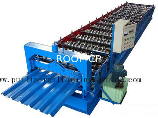 China PLC Steel Metal Roof Panel Roll Forming Machine , Roofing Sheet Roll Former 5 Ton supplier