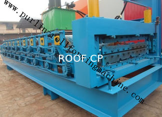 High Efficiency Double Layer Cold Roll Forming Machine for Roofing Tile / Wall Panel