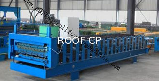 Full-Automatic Standing Seam / Floor Deck Cold Roll Forming Machine 0.4mm - 0.8mm
