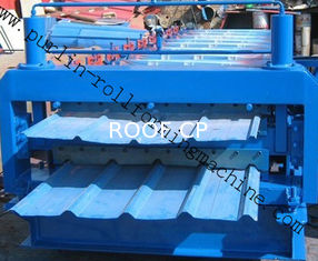 Steel Cold Double Layer Roll Forming Machine for Roof Tile , Metal Sheet , Wall Panel