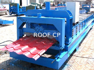 China PLC Control Color Steel Glazed Professional Tile Roll Forming Equipment supplier