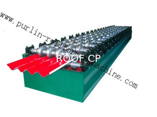 PLC Hydraulic Ridge Cap Roll Forming Machine , Automatic Galvanized Metal Rolling Form Line