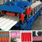 China Hydraulic Pressing Roof Color Steel Tile Roll Forming Machine in Blue distributor