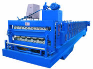 China Automatic PLC Frequency Control Double Layer Roofing Sheet Roll Forming Machine distributor