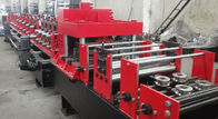 Good Quality Purlin Roll Forming Machine & Symmetry Dual Rows Holes Punching C Purlin Roll Forming Machine Hydraulic 14MPa Working Pressure on sale