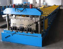 Best 22kw Hydraulic Floor Deck Roll Forming Machine For Colored / Galvanized Steel Sheets for sale