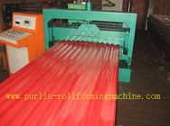 China CE Corrugated Roof Panel Roll Forming Machine PANASONIC Transducer For Chain Drive distributor
