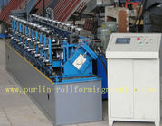 Professional Stud And Track Roll Forming Machine With Hydraulic Hole Punching Automatic Control Siemens PLC for sale