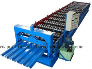 China PLC Steel Metal Roof Panel Roll Forming Machine , Roofing Sheet Roll Former 5 Ton distributor