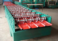 China 5.5KW Secret Joint Roof Panel Roll Forming Machine Hydraulic Cutting With CE distributor