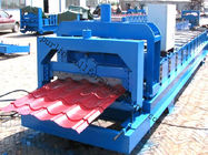 China Color Steel Glazed Tile Roll Forming Machine with PLC Computer Control to Europe distributor