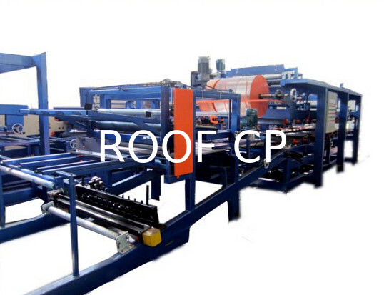 Colored Steel PU Sandwich Panel Production Line , Roof Panel