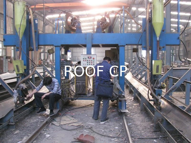 Double Positions T Shaped H Beam Submerged Arc Welding