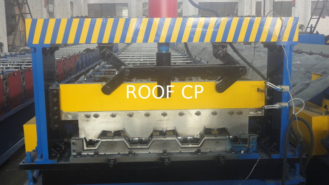 Galvanized Steel Floor Deck Roll Forming Machine With Coiler Car