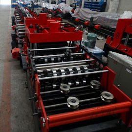 China 15KW Z & C Purlin Roll Forming Machine With Hydraulic / Manual Decoiler And PLC Control Line distributor