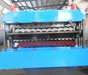 China 18 Forming Stations Double Layer Roll Forming Machine PLC For IBR / Corrugated Sheetson sales