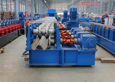 China Freeway Guardrail Cold Forming Machine Use Gimble Gear Reducer with Hydraulic Punching Holes System and Cutting Methodon sales