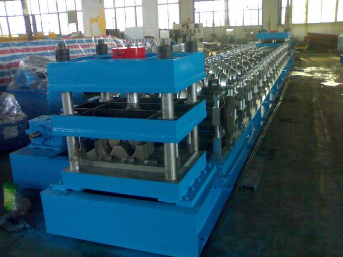380V , 3 Phase 50Hz Two Wave Guardrail Roll Forming Machine for Highway Guardrails Export to Macedonia