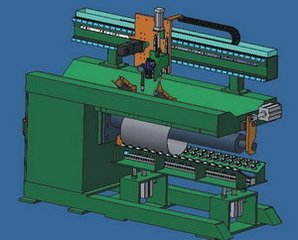 Weld Stainless Cylinders Longitudinal Seam Automatic Welding  Machine for DC Motor