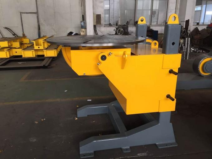 Gear Tilt Pipe Welding Positioners 1200mm Table Diameter Rolling Speed Adjusted by VFD