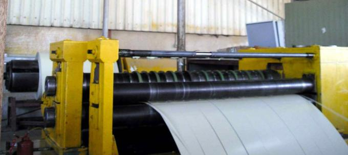 Simple Steel Slitting Machines For Slitting 0.2-1.8x1300 Coil Into 10 Strips