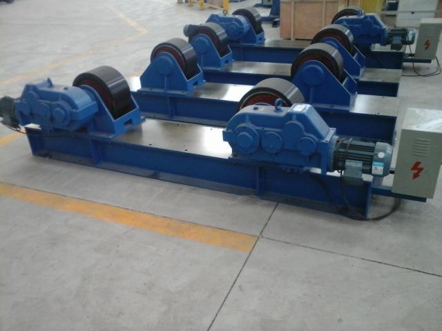 Economic Capacity 30 Tons Pipe Rotator Welding Use Polyurethane Material Wheels