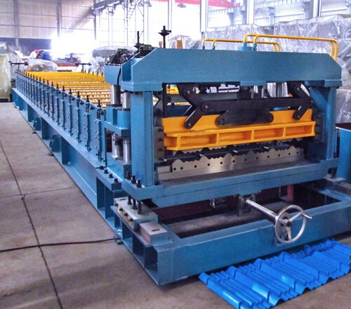 Full Automatic Corrugated Metal Glazed Roof Tile Roll Forming Machine Production Line Forming Speed 10 m/min Use PLC